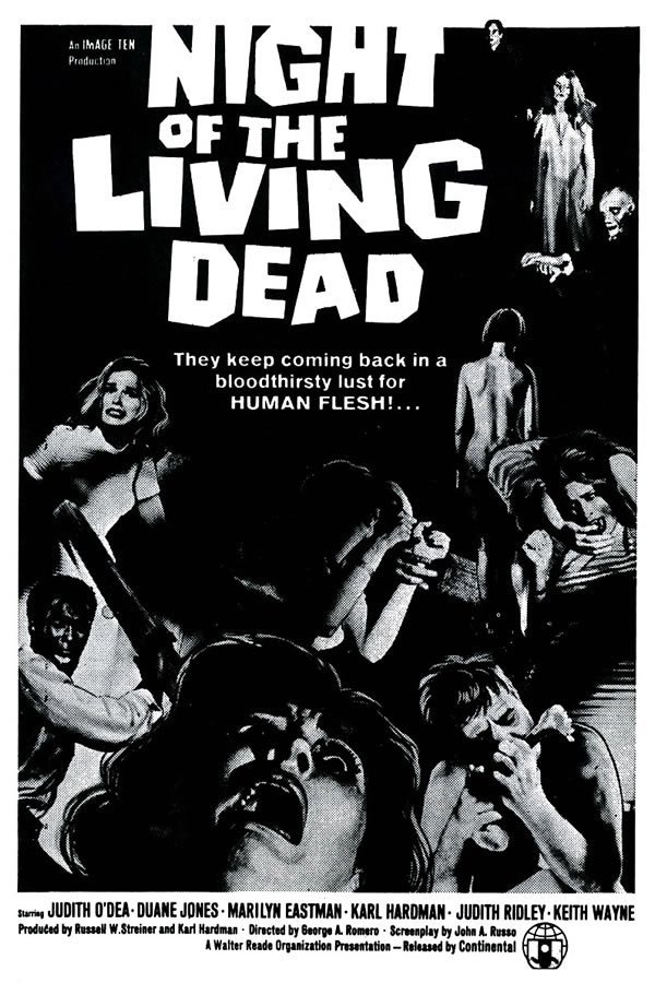 Poster película La noche de los muertos vivos